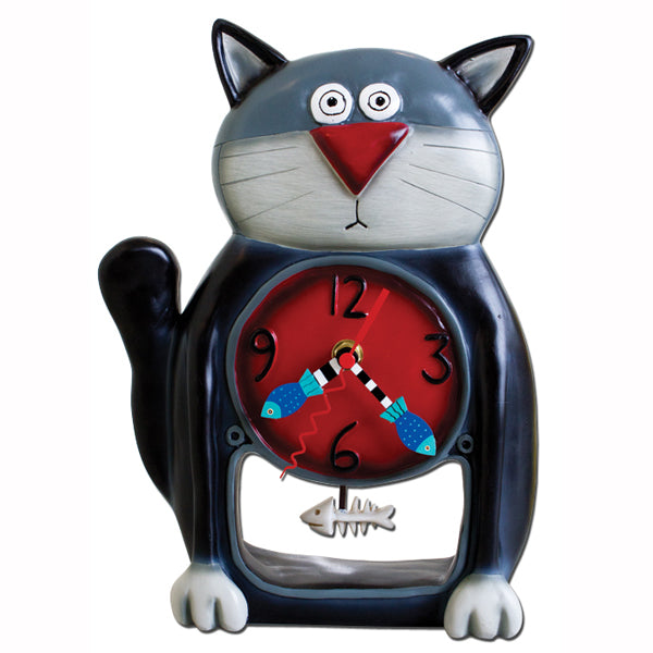 BLACK KITTY CLOCK