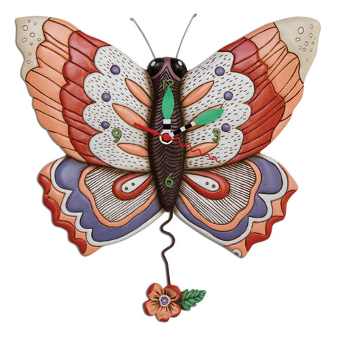 Free Flying Butterfly Clock