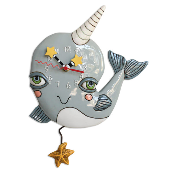 NARLY NARWHAL CLOCK