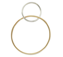 LARGE LOOPED HOOP STERLING SILVER AND GOLD FILL EARRINGS
