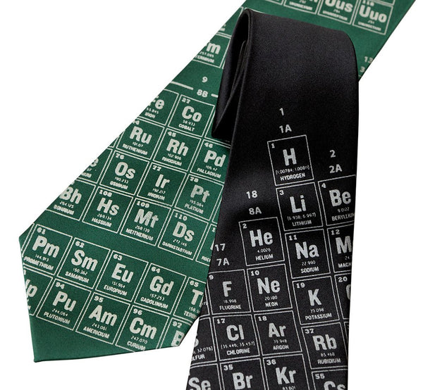PERIODIC TABLE MICROFIBER NECKTIE