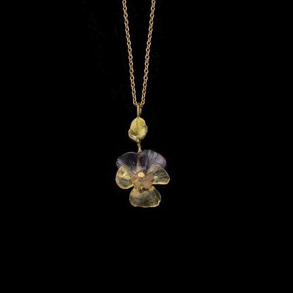 DAINTY PANSIES NECKLACE