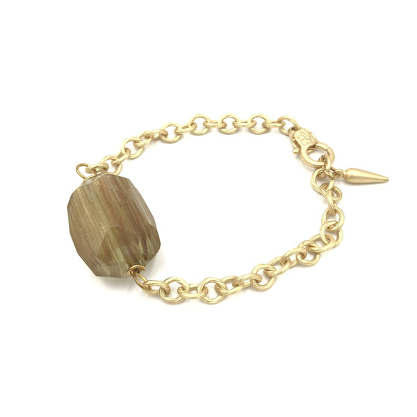 gold dust quartz chain bracelet