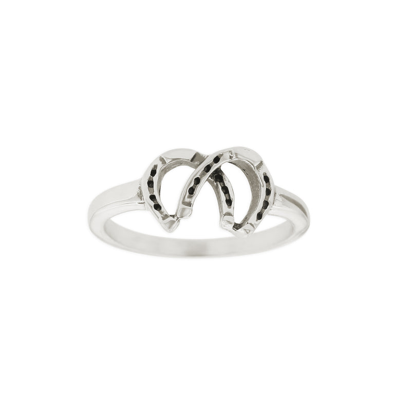 DOUBLE HORSESHOE RING
