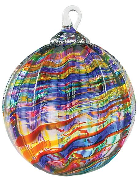 CLASSIC ROUND ORNAMENT - RAINBOW KALEIDOSCOPE