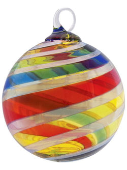 ARTISAN SERIES ROUND ORNAMENT - RAINBOW PLATINUM TWIST