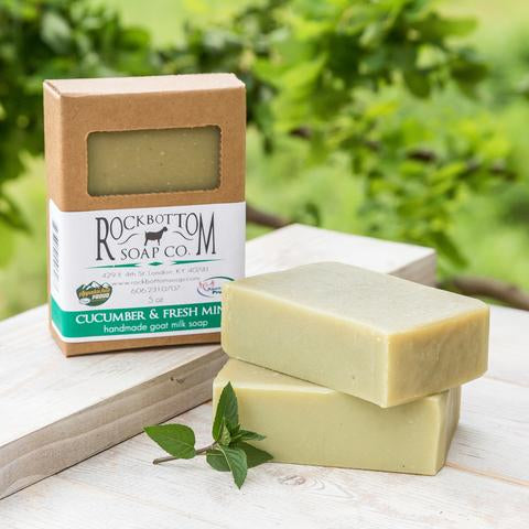 CUCUMBER & FRESH MINT BAR SOAP
