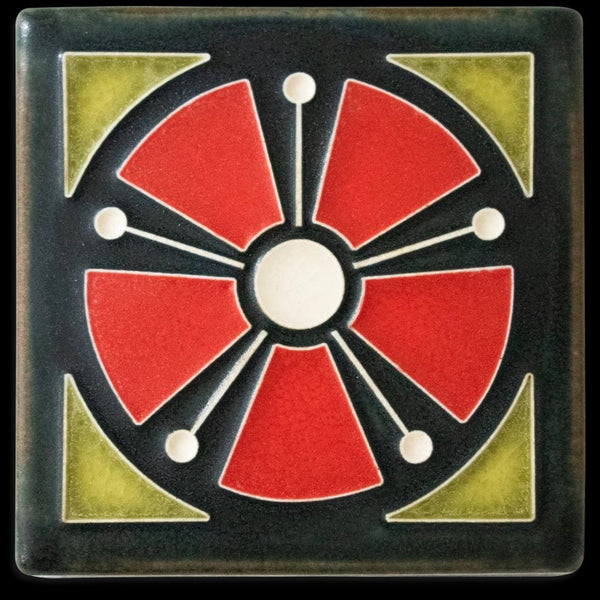 MOTAWI ATOMIC ANEMONE RED TILE 4X4 4460