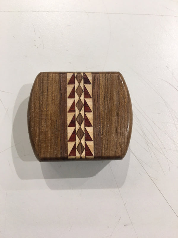 "TEAK SECRET BOX WITH SPROCKET INLAY (2"" X 2"")"