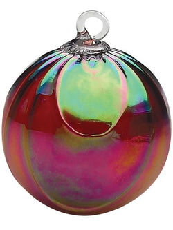 CLASSIC ROUND ORNAMENT - RUBY DRAPED