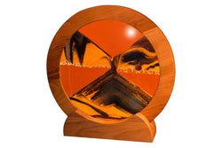 "ROUND CHERRY WOOD 11"" SUNSET ORANGE EXOTIC SAND"