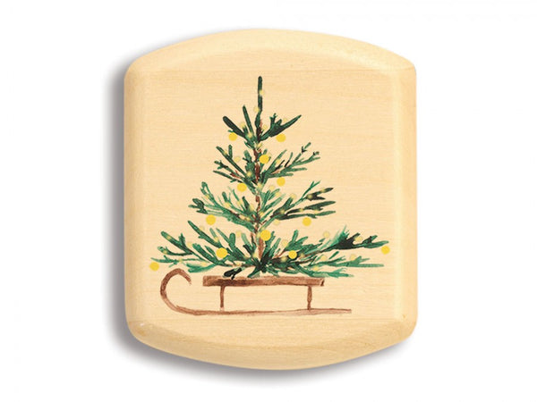 "ASPEN SECRET BOX (1 3/4"" X 2"") - TREE ON SLED"