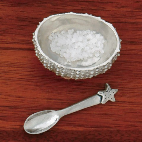 SEA URCHIN SALT CELLAR WITH SPOON
