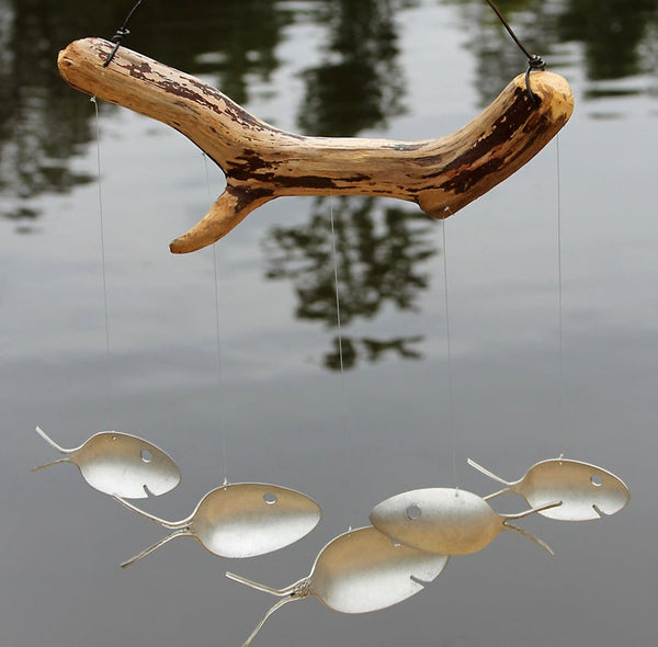 SPOON FISH AND DRIFTWOOD WIND CHIME