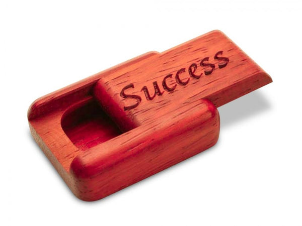 "PADAUK SECRET BOX (1.5"" X 2"") - SUCCESS"