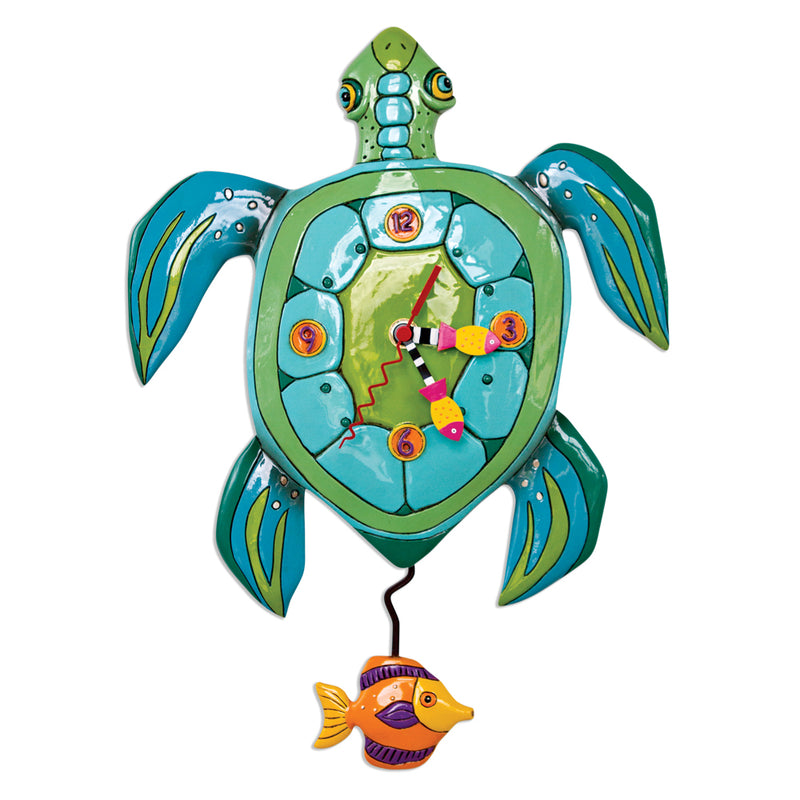 'SUP DUDE TURTLE PENDULUM CLOCK