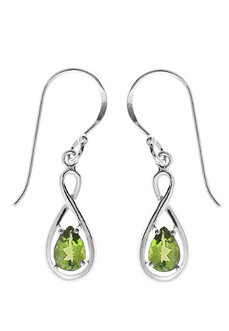 PERIDOT TEARDROP TWIST EARRINGS