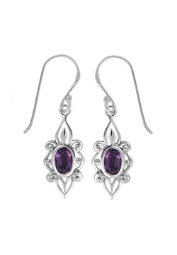 AMETHYST FILIGREE EARRINGS