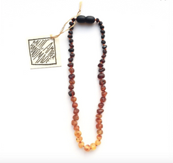 RAW BALTIC AMBER OMBRE NECKLACE 11""