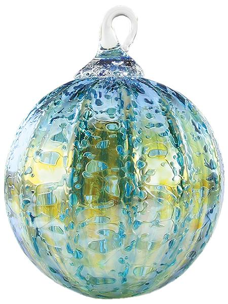CLASSIC ROUND ORNAMENT - TEAL LUSTER