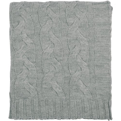 HAMPTON LIGHT GRAY THROW