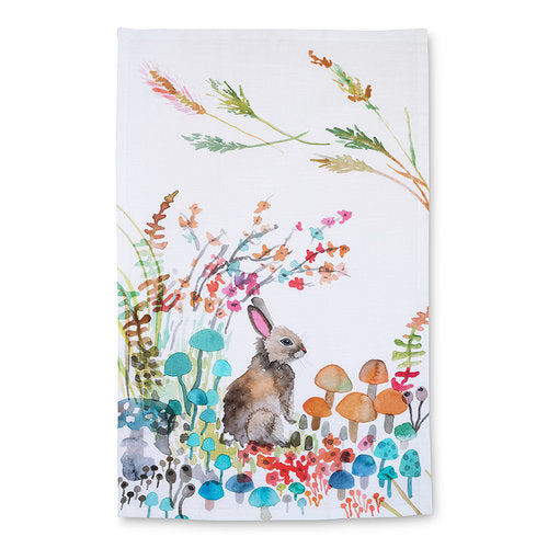 WOODLAND BUNNY TEA TOWEL