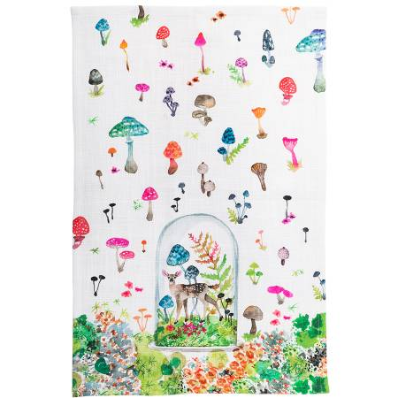 FAWN TERRARIUM TEA TOWEL