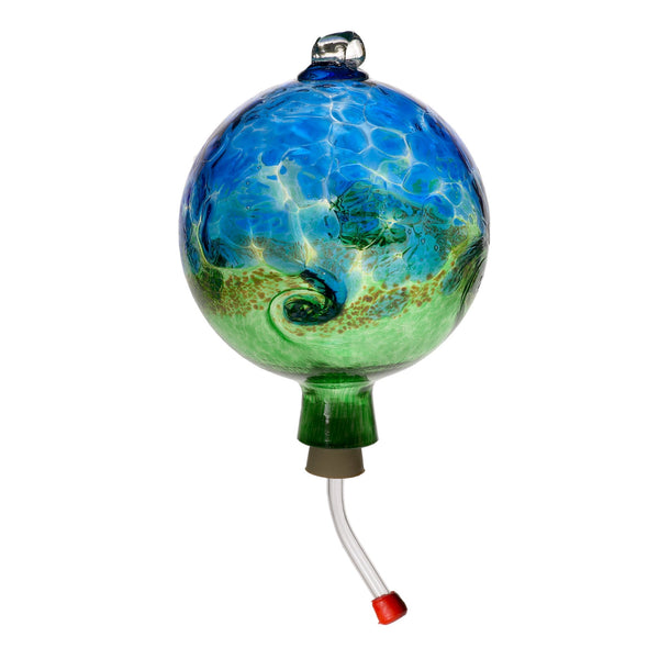 "6"" VAN GLOW HUMMINGBIRD FEEDER - BLUE GREEN"