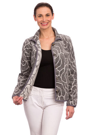 CLASSIC REVERSIBLE JACKET GRAY ROSE