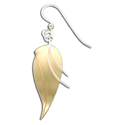 GOLD LILY STRINGS EARRINGS - MIXED METAL