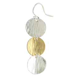 Cascade Gold Filled and Sterling Mix Metal Earrings