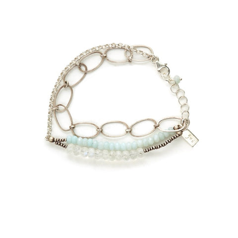 AMAZONITE AND MOONSTONE BRACELET