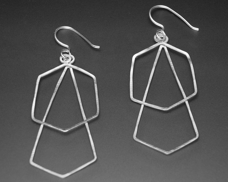 DOUBLE GEOMETRY EARRINGS