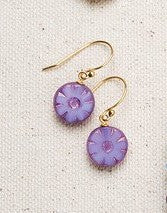 LAVENDAR FORGET-ME-NOT EARRING