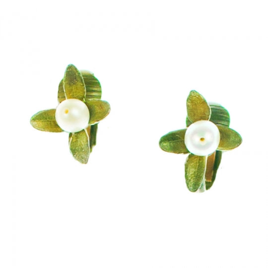 BOXWOOD CLIP EARRINGS