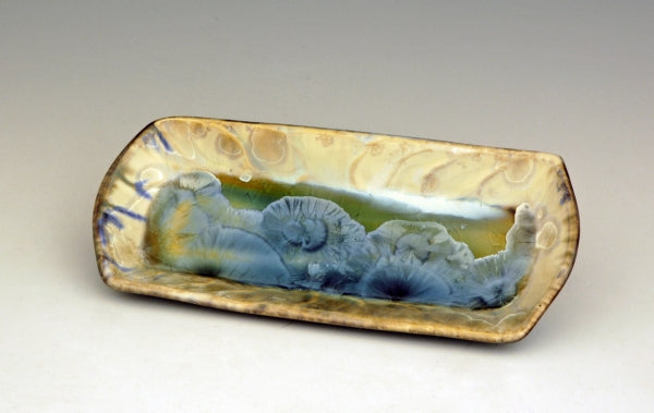 STELLAR BUTTER DISH (CREAM/GREEN/BLUE)