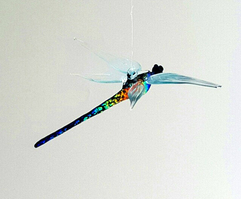 DRAGONFLY WITH DICHROIC GLASS