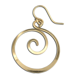 GF ROUND DANGLE SWIRL EARRINGS