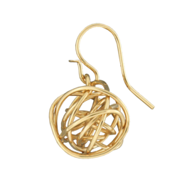 WIRE BALL EARRINGS - GOLD FILL
