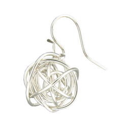 WIRE BALL EARRINGS - STERLING SILVER