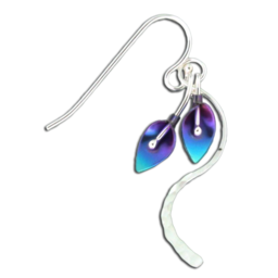LILY TAIL STERLING SILVER AND NIOBIUM EARRINGS