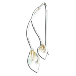 MOTHER DAUGHTER LILY EARRINGS - STERLING SILVER