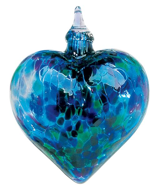 CLASSIC HEART ORNAMENT - BLUE MOSAIC CHIP