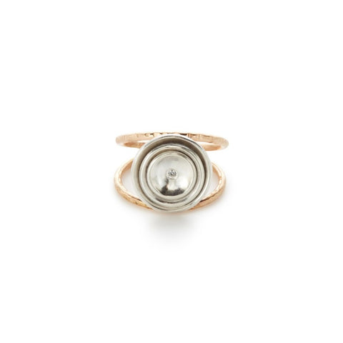 CUPPED RING WITH CUBIC ZIRCON SIZE 8
