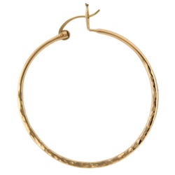 LARGE HAMMERED GOLD FILLED HOOP EARRINGS