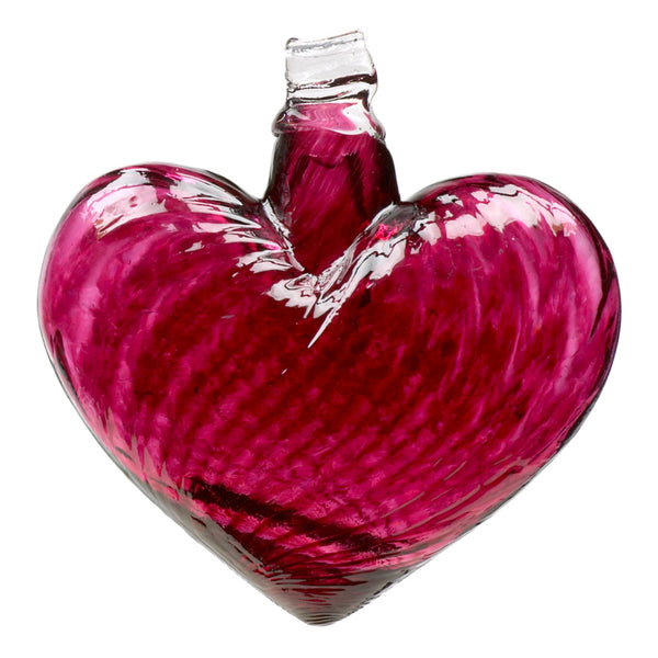 "4"" HEART OF GLASS ORNAMENT - PINK"