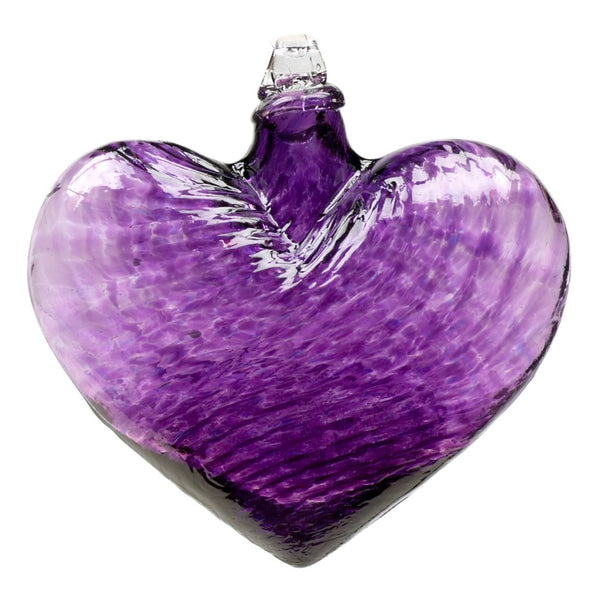 "4"" HEART OF GLASS ORNAMENT - PURPLE"