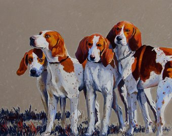 HOUNDS PRINT LARGE