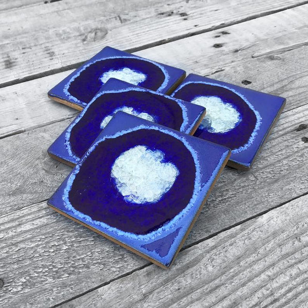 SQUARE GEODE CRACKLE COASTER