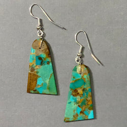 ROYSTON TURQUOISE SLAB BELL EARRINGS